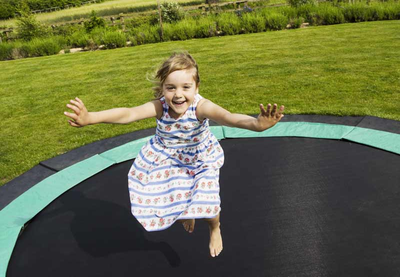 tappeto elastico da giardino